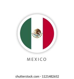 Mexico Button Flag Vector Template Design Illustrator