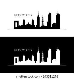 Mexico City skyline - vector illustration