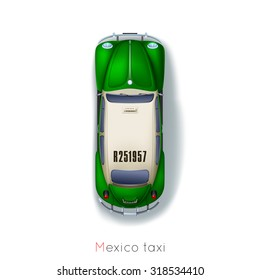 Mexico city, traditional taxis around the world
