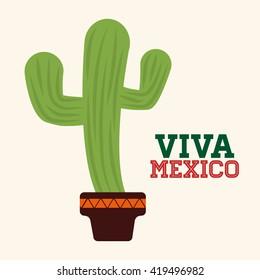 Mexico design. Culture icon. Colorful illustration