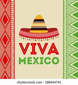 Mexico design over colorful background, vector illustration