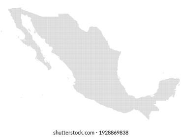 Mexico Dots Map - Editable Map Vector