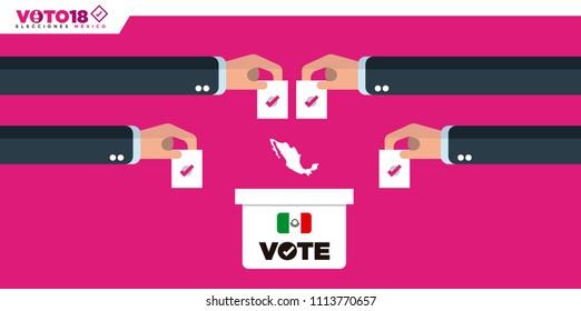Mexico Elections 2018, elecciones Mexico 2018, spanish text