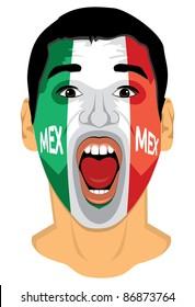 Mexico fan face