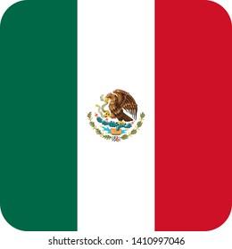mexico flag america illustration vector eps