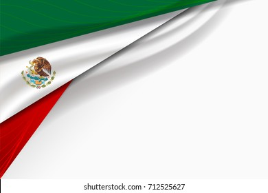 Mexico flag background for Independence Day and other events, Vector Design