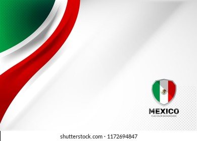 Mexico flag color backgrounds concept for National holiday, Independence Day and other events, Vector illustration