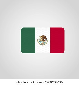Mexico flag with creative design vector