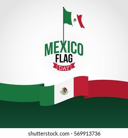 Mexico Flag Day Vector Illustration.