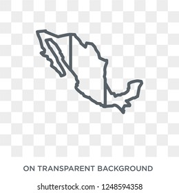 Mexico flag icon. Trendy flat vector Mexico flag icon on transparent background from Country Flags collection. High quality filled Mexico flag symbol use for web and mobile