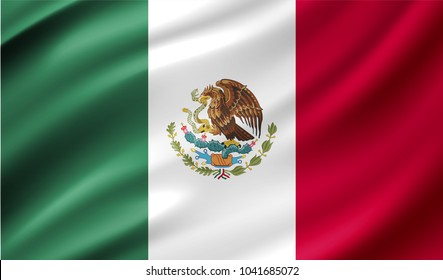 Mexico Flag in Vector Illustration