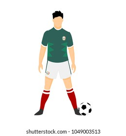 Mexico Football Uniform National Team 2018 Illustration