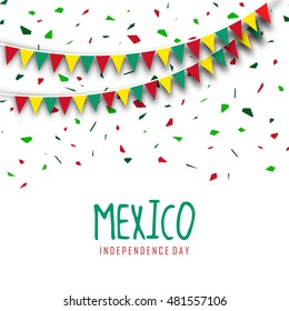Mexico Independence day flag abstract design