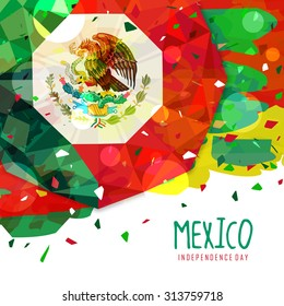 Mexico Independence day flag and cinco de mayo abstract design