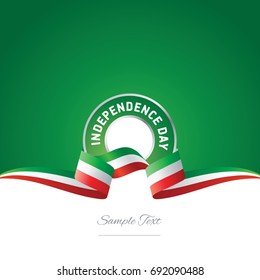 Mexico Independence Day ribbon logo icon
