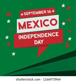 Mexico Independence Day sales promotion card in square format