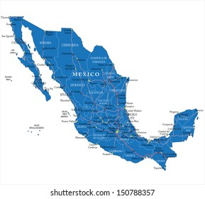 Mexico South America Map Images, Stock Photos & Vectors | Shutterstock