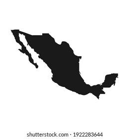 Mexico map black icon concept. Mexico map flat vector symbol, sign, illustration.