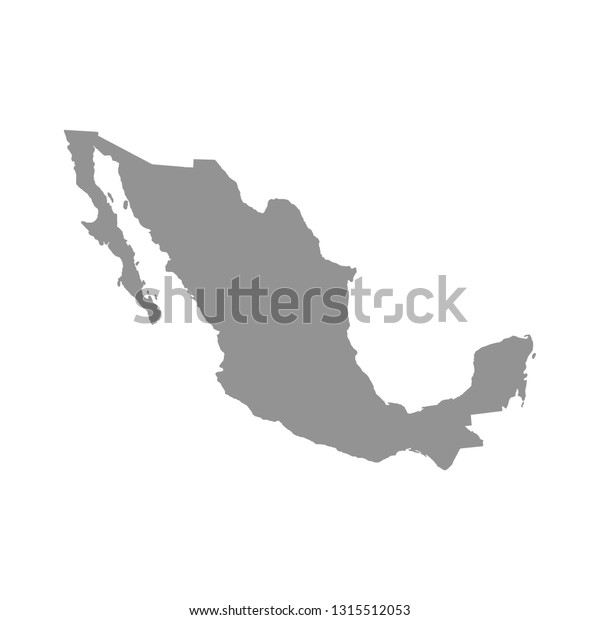 Mexico Map High Detailed Map Mexico Stock Vector (Royalty ...