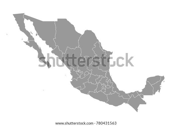 Meksikon Kartta Korkea Yksityiskohtainen Kartta Meksikosta