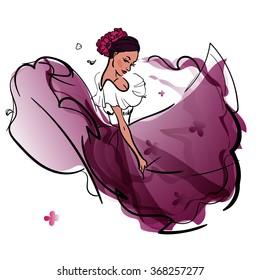 Ilustraciones Imágenes Y Vectores De Stock Sobre Danza