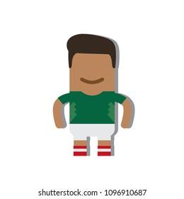 Mexico national football team icon, vector illustration design.