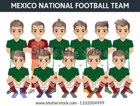 Mexico National Football Team International Tournament Stock Vector ... 72d5f3a18
