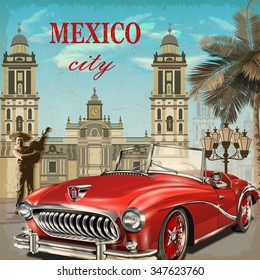 Mexico retro poster.