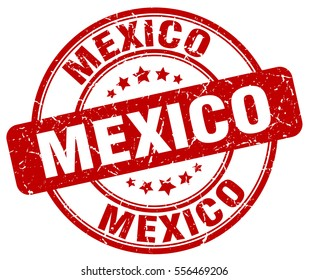 Mexico. stamp. red round grunge vintage Mexico sign