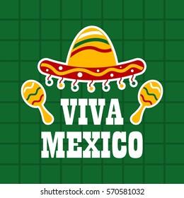 Mexico theme poster illustration