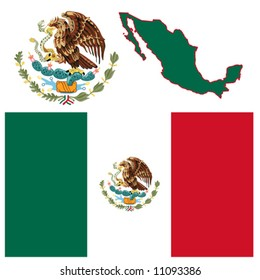 Mexico vector is hand drawn artwork.
