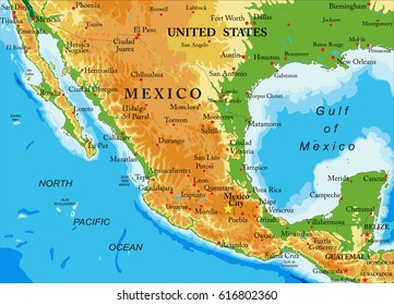 Usa Mexico Map Stock Illustrations, Images & Vectors ...