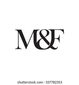 M&F Initial logo. Ampersand monogram logo