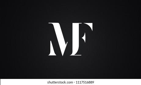 MF Letter Logo Design Template Vector