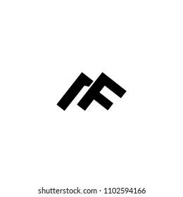 mf letter logo vector. af letter logo vector. mountain logo vector
