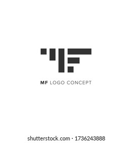 MF Logo concept. MF chart logo concept for investment logo