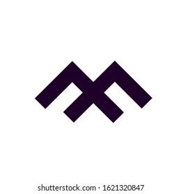 MF logo design vector template
