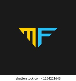 MF logo designed with letter M and F in vector format.