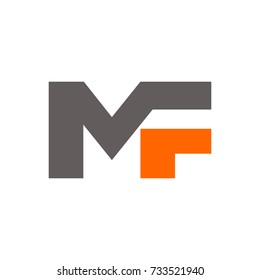 MF logo initial letter design template vector