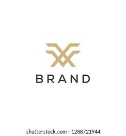 MF monogram logo design