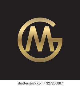 MG or GM letters, golden circle G shape
