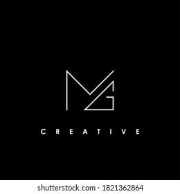 MG Initial Logo Design Vector