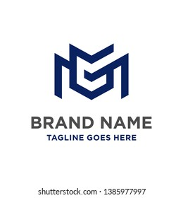 MG initial logo design your company