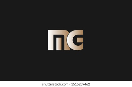 MG Letter Logo Design with Creative Modern Trendy Typography