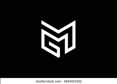 MG letter logo design on luxury background. GM monogram initials letter logo concept. MG icon design. GM elegant and Professional letter icon design on black background. M G MG GM