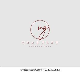 MG Letter Logo Manual Elegant Minimalist Signature
