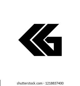 mg letter vector logo. kg letter vector logo
