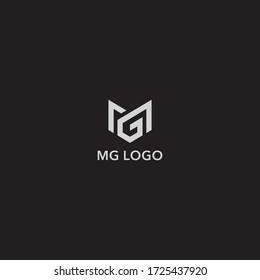 MG logo design. Vector illustration.