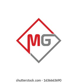 MG logo template or mg Business logo with vector format.