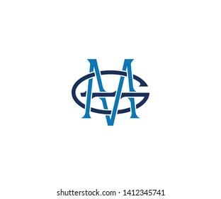 MG Monogram icon logo amblem typography logo